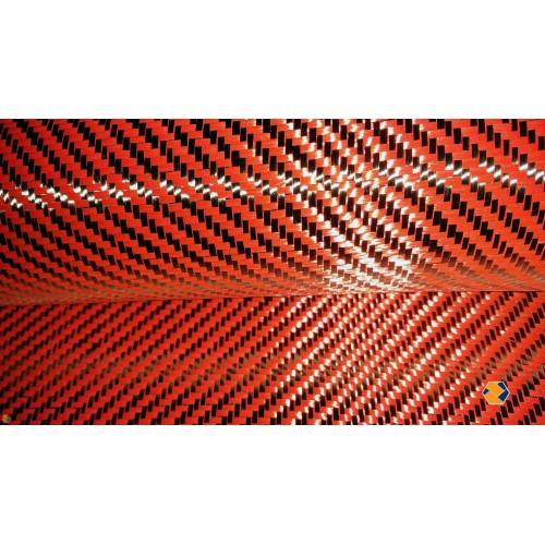 5 5oz 1st Quality Carbon/Kevlar Hybrid [BLACK/RED], 50